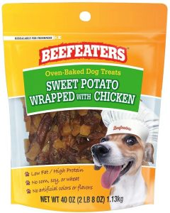 Beefeaters Sweet Potato Wrapped with Chicken Treat for Dogs